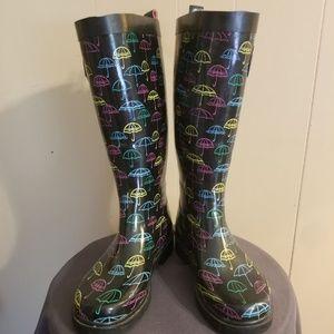 Capelli Size 5 Umbrella Decorated Rain Boots
